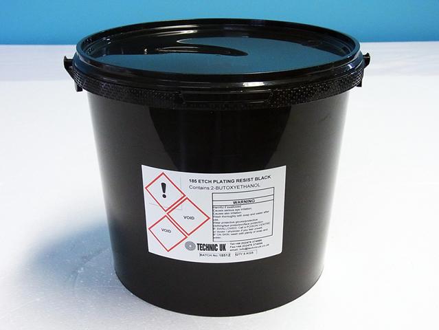 アルカリ除去型エッチング/メッキレジストインキ 185 Black
