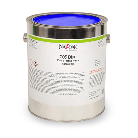 溶剤除去型エッチング/メッキレジスト 205 Blue 16935-PC Black